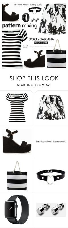 """Pattern Mixing: A Dolce & Gabbana Dream"" by nonniekiss ❤ liked on Polyvore featuring Dolce&Gabbana, Thakoon, Nly Shoes, dolceandgabbana, patternmixing, nonniekiss and nonniestyle"