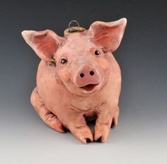 Vintage style Piglet ornie by uncommoncreatures on Etsy, $50.00