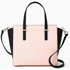 Kate Spade Cedar Street Small Hayden Soft Rose/ Satchel (420 SGD) ❤ liked on Polyvore featuring bags, handbags, pink leather handbag, satchel purse, satchel handbags, pink handbags and leather satchel