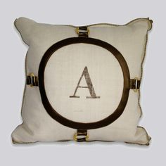 Monogram Circle Pillow - Abingdon Duchess Collection from Dorm Redefined