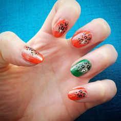 Some red green and gold with a splash o leopard for Eurovision in Lisbon @bridget_m_ #eurovision #nails #nailart #nailsofinstagram #nailartoftheday #handpaintednails #handpaintednailart #handpainted #nailartist #leopardprint #leopard #leopardprintnails #europe #eurovision2018 #lisbon #portugal
