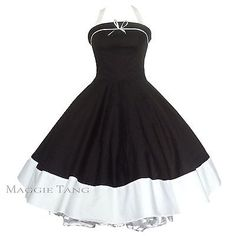 Maggie Tang 50s 60s Vintage Retro Swing Jive Rockabilly Pinup Party Dress 502