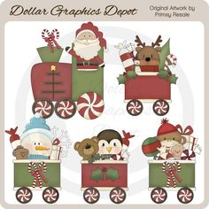 Christmas Train - Clip Art - $1.00 : Dollar Graphics Depot, Quality Graphics ~ Discount Prices