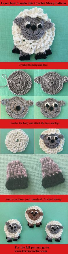 Free Crochet 🐞sheep pattern.