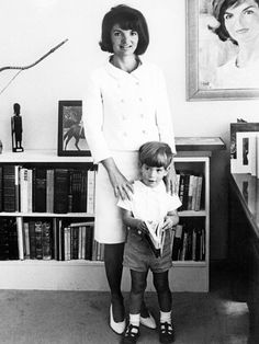 Jacqueline Kennedy and her son, John Jr., in their new York apartment on Sept. 16, 1964.