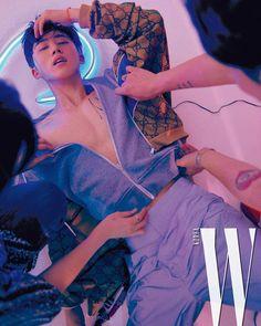 Hanbin @ W Korea Magazine Kim Hanbin Ikon, Chanwoo Ikon, Ikon Kpop, Yg Ikon, Yg Entertainment, Asian Boys, Asian Men, K Pop, Bobby