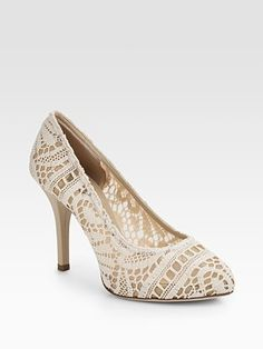Dolce & Gabbana, Lace Pumps, $695