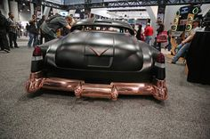At the 2016 SEMA show Wet Sounds Marine Audio was making big waves with their copper-plated Cummins-Powered 1950 Cadillac 60 Series. Cadillac Ats, Cummins, Lowrider, Hot Rod Pickup, Amazing Cars, Car Show, Sport Cars, Custom Cars, Concept Cars