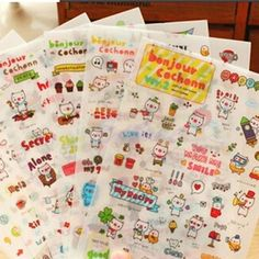 Free Shipping Lovely 6 Sheets Pig Transparent Calendar Diary Book Sticker Scrapbook Decoration-in Stickers from Toys & Hobbies on Aliexpress.com | Alibaba Group