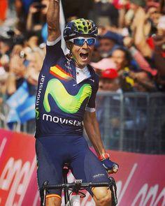Alejandro Valverde wins Stage 16 Giro d'Italia 2016 photo Graham watson