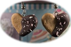 Heartchip cookies fimo-clay