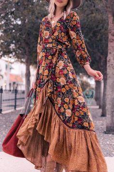 Boho Outfits, Dressy Casual Outfits, Casual Dresses, Fashion Outfits, Womens Fashion, Bohemian Dresses, Dresses Dresses, Hippie Dresses, Fashion Trends