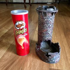 "Lexi Linville on Instagram: ""The humble #pringles can has new life as a dice tower. #dicetower #dnd #dungeonsanddragons #dndcrafts #dungeonsanddragonscrafts…"""