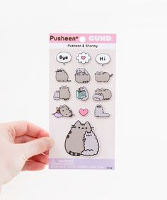 Pusheen & Stormy Puffy Bubble Sticker Sheet