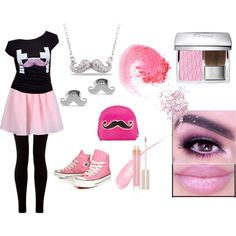 Girly Markiplier by vreardon on Polyvore featuring Carven, Converse, West Coast Jewelry, Christian Dior, NARS Cosmetics, Stila and Topshop