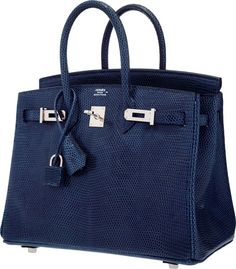 Luxury Accessories:Bags, Hermes 25cm Blue de Malte Nilo Lizard Birkin Bag with PalladiumHardware. O Square, 2011. Excellent to PristineCondit...