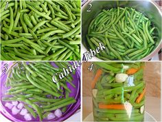 "The post ""pickled beans"" appeared first on Pink Unicorn Herzhaft How To Make Beans, Perfect Food, Bon Appetit, Grape Vines, Pickles, Green Beans, Cookie Recipes, Food And Drink, Favorite Recipes"