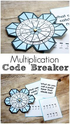 This multiplication code breaker will change how you practice multiplication! Solve jokes and riddles, send secret messages, and more! This snowflake code breaker is perfect for winter activities. Math Strategies, Math Resources, Math Activities, Winter Activities, Math For Kids, Fun Math, Math Multiplication, Third Grade Math, Grade 3