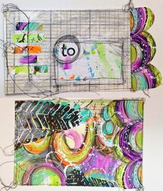 Art Journaling with the Documented Life Project, Art to the 5th and StencilGirl stencils.