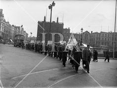 1957 - Gaeltacht protest for Harry Corduff in Mountyjoy History Photos, Photo Archive, More Photos, Ireland, Irish, Street View, Fine Art, Film, Gallery