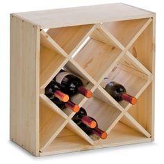 Classique cr ative 18 bouteille empilable casier vin en bois bouteill - Range bouteille fait maison ...