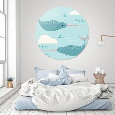 Discover «narwhal blue», Limited Edition Disk Print by susana costa - From 95€ - Curioos