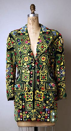Jacket Designer: Todd Oldham (American, born 1961) Date: fourth quarter 20th century Culture: American Medium: silk, cotton, glass