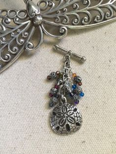 Pewter Starfish Beaded Pendant Necklace #230