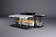 solar powered fold out restaurant