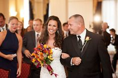 Fall Wedding in Philly at the Courtyard Marriott. Gorgeous.