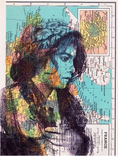 collage art on old maps | JACKIE BASSETT COLLAGE ART: Collage Art