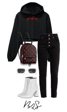 """#928"" by blendingtwostyles ❤ liked on Polyvore featuring Balenciaga, Topshop and Illesteva"