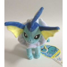 Pokemon Center 2012 Eevee Collection Vaporeon Standing Plush Toy