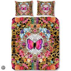 Melli Mello Butterfly dekbedovertrek - Multi - Lits-jumeaux (240x200/220 cm + 2 slopen)