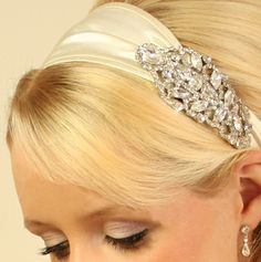 Jennifer Behr Bridal Headband - Victorian Brooch - Bridal Jewellery - Crystal Bridal Accessories