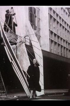Hepworth being installed- John Lewis