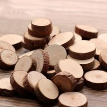 50 Pcs fatia de madeira tronco de árvore de artesanato rústico peças centrais do casamento decoração de mesa(China (Mainland))