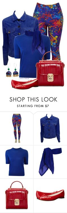 """""""Flats and a Denim Jacket"""" by rosipolooyas on Polyvore featuring moda, Lucien Pellat-Finet, Marc by Marc Jacobs, Dolce&Gabbana, Repetto y NOVICA"""