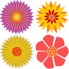 Flower by @jpenrici, A drawing of flower., on @openclipart