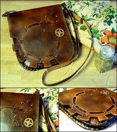 Large Steampunk Leather Messenger Bag III by izasartshop on deviantART