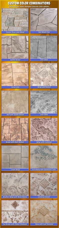 Stamped Concrete Colors-Biondo Cement Macomb, MI