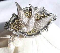Swallow Cuff Bracelet Silver Swallow by Charsfavoritethings