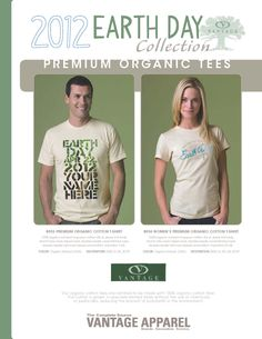 Once again Vantage is offering their Name Drop Graphics program for Earth Day Tees. So if you are looking to get the most design for your money on Earth Day shirts this might be the way to go. Decoration options include not only screen-printed designs but also Digital Print, Embroidery, Laser etching and Laser Applique.