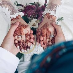 Image may contain: one or more people Rose Mehndi Designs, Indian Mehndi Designs, Mehndi Design Photos, Mehndi Designs For Fingers, S Love Images, Girly Images, Cute Love Couple, Cute Couple Pictures, Mahandi Design