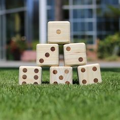 Hammer Crown Giant Wooden Dice with Wood Burned Pips x Plus Free Bag Giant Outdoor Games, Giant Games, Outdoor Fun, Yard Dice, Bar Fancy, Wooden Dice, Outside Games, Corn Hole Game, Cornhole