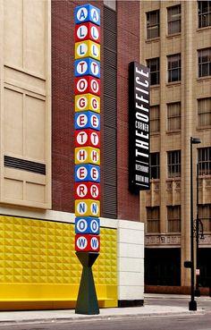 The Corner Office at Curtis Hotel ~ Denver, Colorado Directional Signage, Wayfinding Signage, Signage Design, Environmental Graphic Design, Environmental Graphics, Architectural Signage, Sign System, Exterior Signage, Visual Communication