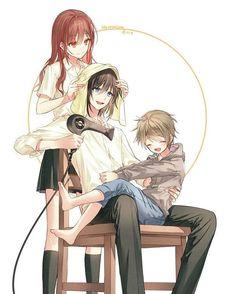 Manga Anime, Otaku Anime, Series Manga, Cute Anime Coupes, Familia Anime, Horimiya, Handsome Anime Guys, Anime Scenery, Pics Art