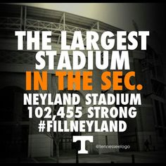 My husband helped build it :) Tn Vols Football, Tennessee Volunteers Football, Tennessee Football, College Football, Tennessee Girls, East Tennessee, Vol Nation, Neyland Stadium, University Of Tennessee