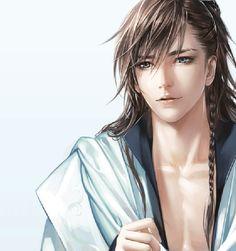 古代男子表情变化动态图GIF,超帅,俊美,古风。