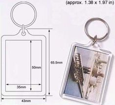 Amazon.com: 50 Pcs of Blank Clear Acrylic Keyring 35x50mm Photo Insert Craft Keychain 92033: Office Products